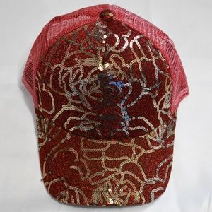 Red Glittery Sparkly Hat